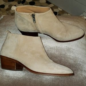 J. Crew Sawyer Suede Ankle Side Zip Boots